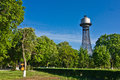 Water tower with hyperboloid structures cherkasy ukraine Royalty Free Stock Images