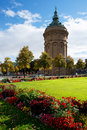 Water tower, Mannheim, Germany. Stock Photography