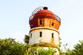 Water tower old abandoned rusty historical building Royalty Free Stock Photos