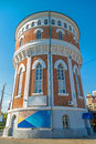 Water tower in the Orenburg Stock Photography