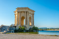 Water Tower in Peyrou garden in Montpellier Royalty Free Stock Photo