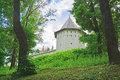 Water tower of Savvino-Storozhevsky man's monastery in Zvenigorod, Russia Royalty Free Stock Photo