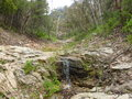 Water trickling over rocks photo of in the grampians national park victoria australia Stock Photo