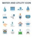 Water utility icon