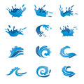 Water vector set symbol and icon Stock Images