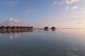 Water villas resort maldives island indian ocean Royalty Free Stock Photos