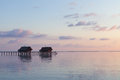 Water villas resort maldives island indian ocean Stock Image