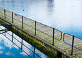 Water walkway through the lake composition Royalty Free Stock Images