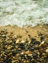 Rocky Shore of Lake Michigan Royalty Free Stock Photo