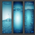 Water Wave Banners Royalty Free Stock Photo