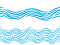 Water waves vector seamless pattern or tattoo ornament