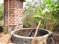 A Water Well - Dug Well - in an Indian Village Royalty Free Stock Photo