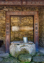 Water well in moldovian village moldova Royalty Free Stock Photo