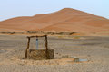 Water well in sahara desert morocco Royalty Free Stock Image