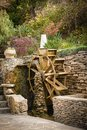 Water wheel decorative wooden in the park Stock Photo