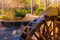 Water wheel of Grist Mill in Stone Mountain Park, USA Royalty Free Stock Photo