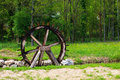 Water wheel in the little river Royalty Free Stock Photography