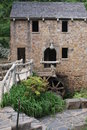 Water wheel at the old mill in little rock arkansas sony dsc this is a replica of a powered grist and is located t r pugh memorial Stock Photo