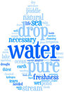Water wordcloud Royalty Free Stock Images