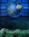 Water world and multi screen background Royalty Free Stock Photography