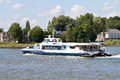 Waterbus on the river merwekade dordrecht netherlands augustus in dordrecht a fast ferry between dordrecht and rotterdam stopping Stock Photo