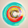 Watercolor abstract circles background with colored imitating Stock Images