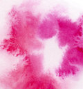 Watercolor abstract pink magenta wash Royalty Free Stock Photography