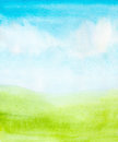 Watercolor abstract sky Royalty Free Stock Photo