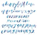 Watercolor Alphabet. Exclusive Custom Characters. Hand Lettering and Typographic art for Designs: Logo, for Poster