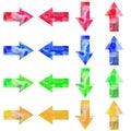 Watercolor arrows