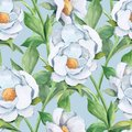 Watercolor background with white flower