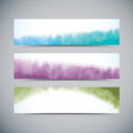 Watercolor banners Royalty Free Stock Images