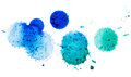 Watercolor blobs isolated on white background Royalty Free Stock Images
