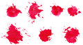 Watercolor blots set in abstract hand drawn Stock Image
