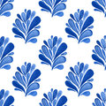 Watercolor Blue Floral Seamles...