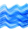 Watercolor blue wave draw Royalty Free Stock Photo