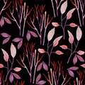 Seamless hand illustrated floral pattern.