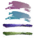 Watercolor brushwork Stock Photos