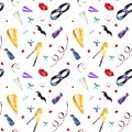 stock image of  Watercolor carnival seamless pattern