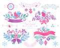 Watercolor christmas design elements. Royalty Free Stock Photo