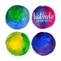 Watercolor circle elements