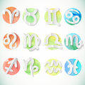 Watercolor circle zodiac design elements this is file of eps format Stock Photos