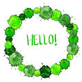 Watercolor colorful green blot background for beautiful design Royalty Free Stock Photo