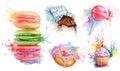 Watercolor confectionery set