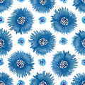 Watercolor cornflowers seamless pattern . Hand paint background. Can be used for wrapping,stationery and package design.