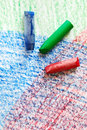 Watercolor Crayons Stock Photo