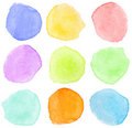 Watercolor dots Royalty Free Stock Image