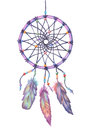 Watercolor Dream Catcher. Hand...