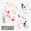 Watercolor drips handy vector element Royalty Free Stock Photo