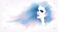 Watercolor fashion sketch Royalty Free Stock Images